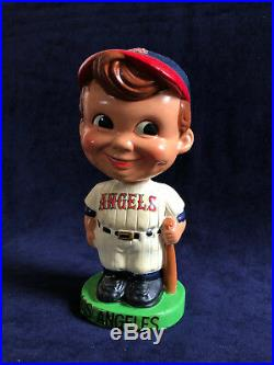 Vintage 1960 -1962 Los Angeles Angels Bobble Head with green base