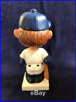 Vintage 1960 -1962 Yankees Moon Face Bobble Head With Square White Base