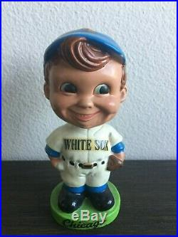 Vintage 1960 Bobblehead Chicago White Sox Green Base Nodder Rare Swirl Cap