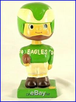 Vintage 1960 Philadelphia Eagles Nodder Bobblehead Square Base Japan NFL