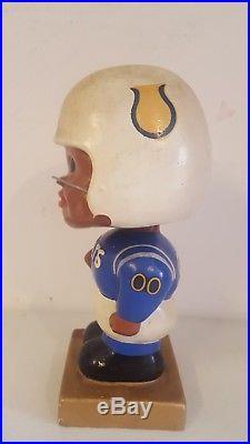 Vintage 1960's Baltimore Colts black face nodder bobblehead bobble square base