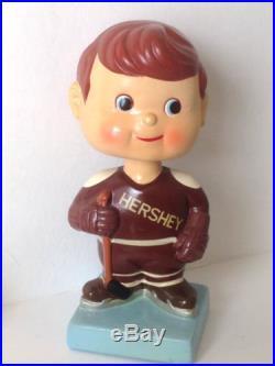 Vintage 1960's Blue Base Hershey Bears AHL Hockey Bobblehead Nodder Mint