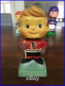 Vintage 1960's Bobblehead Chicago Blackhawks Nodder High Skates Series NHL