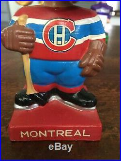 Vintage 1960's Bobblehead Montreal Canadiens Nodder Square Base Series NHL