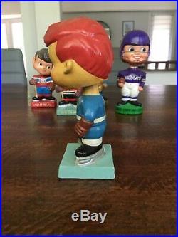 Vintage 1960's Bobblehead Toronto Maple Leafs Nodder High Skate NHL