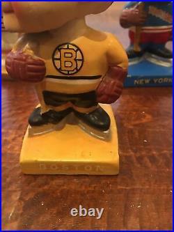 Vintage 1960's Boston Bruins Bobblehead High Skates Nodder