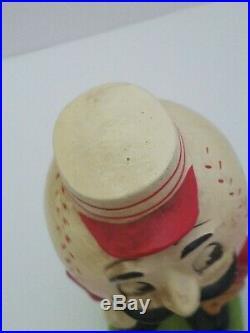Vintage 1960's CINCINNATI REDS MASCOT BOBBLE HEAD NODDER GREEN BASE RARE