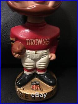 Vintage 1960's Denver Broncos NFL Football Bobblehead Noddler Error BROWNS RARE