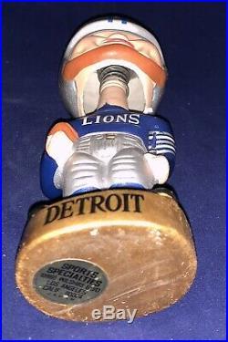 Vintage 1960's Detroit Lions Merger Series Gold Base Football Nodder Bobblehead