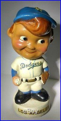 Vintage 1960's Los Angeles Dodgers Baseball Bobble Head