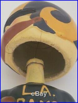Vintage 1960's Los Angeles Rams Vintage Bobble Head Nodder Square Base RARE