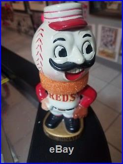 Vintage 1960's MLB Cincinnati Reds Mascot Bobble Head Rare with original box