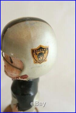 Vintage 1960's Oakland Raiders Bobblehead Bobble Head Nodder Gold Base NFL Japan
