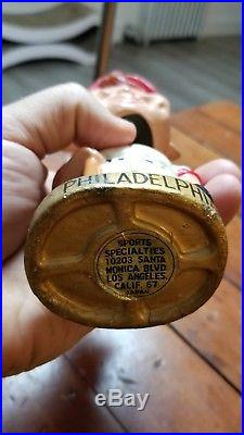 Vintage 1960's Philadelphia Phillies Bobblehead Nodder Gold Base Minty