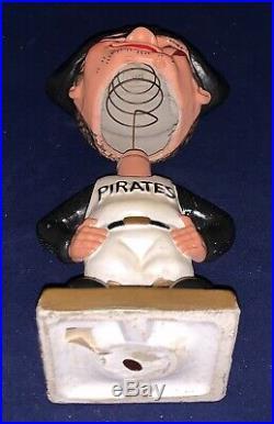 Vintage 1960's Pittsburgh Pirates Square Color Base Baseball Nodder Bobblehead