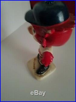 Vintage 1960's St. Louis Cardinals Bobblehead Nodder White Base RARE