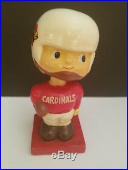 Vintage 1960's St Louis Cardinals NFL Bobble Head Nodder Square Base RARE