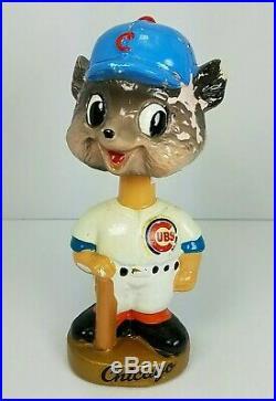Vintage 1960s Chicago Cubs Bobble Head Nodder Sports Specialties Gold Base Japan