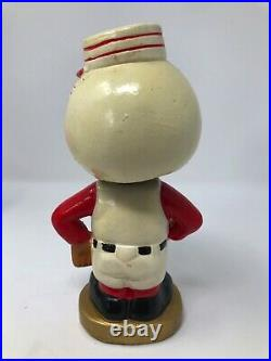 Vintage 1960s Cincinnati Reds Baseball Japan Nodder Bobblehead Gold Base