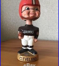 Vintage 1960s Cleveland Browns Bobble Head Gold Base