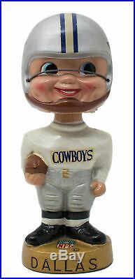 Vintage 1960s Dallas Cowboys Gold Base Bobble Head Nodder