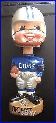 Vintage 1960s Detroit Lions NFL Football Bobble Head Nodder Sports Specialties