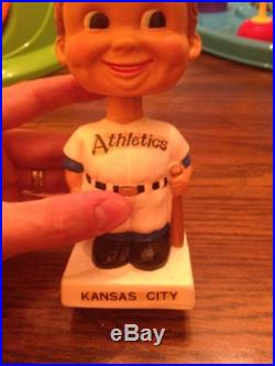 Vintage 1960s Kansas City Athletics Bobblehead