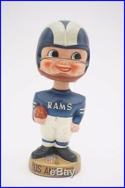 Vintage 1960s LA Rams Bobble Head NFL Nodder Japan Bobblehead Sports Specialties