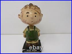 Vintage 1960s LEGO Square Base Nodder Bobble Head Japan Pig Pen Peanuts Show 427