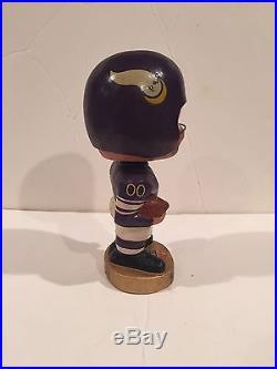 Vintage 1960s NFL Football Minnesota Vikings Bobblehead Nodder Gold Base