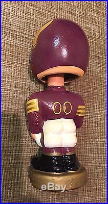 Vintage 1960s NFL Football Minnesota Vikings Bobblehead/Nodder Gold Base