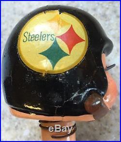 Vintage 1960s NFL Football Pittsburgh Steelers Bobblehead/Nodder withGold Base