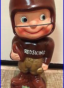 Vintage 1960s NFL Football Washington Redskins Bobblehead/Nodder Gold Base
