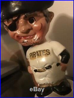 Vintage 1960s Pittsburg Pirates Mini Bobble head / Nodder