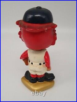 Vintage 1960s St Louis Cardinals Bobblehead Gold Base Nodder / Bobblehead