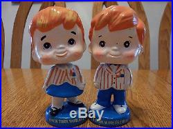Vintage 1960s Wendy & Peter 1964/65 New Yorks World Fair Nodders Bobbleheads