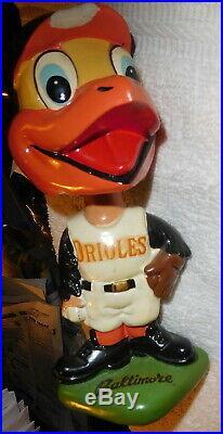 Vintage 1962 Baltimore Orioles Bird Bobble Head Nodder Doll Green Base Rare