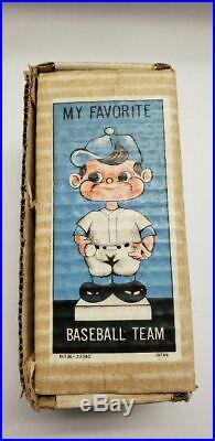 Vintage 1962 Baltimore Orioles Bobble Head Green Base with Original Box Japan