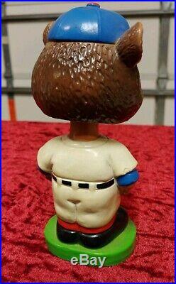 Vintage 1962 Chicago Cubs Bobblehead Green Base Nodder Japan 1960's Mascot