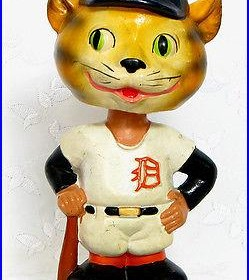 Vintage 1962 Detroit Tigers Bobblehead Nodder Mascot Green Base NM Condition
