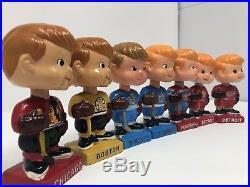 Vintage 1962 NHL Hockey Bobblehead Dolls Nodder Leafs Bruins Canadiens Rare Mini