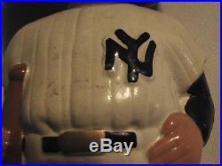 Vintage 1962 NY YANKEES Green Base Boy Head BOBBLEHEAD Doll