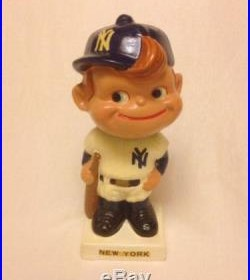 Vintage 1962 New York Yankees Bobblehead White Base (KP185)