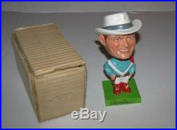 Vintage 1962 Roy Rogers Composition Bobblehead Nodder With Box Mib