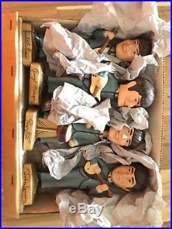 Vintage 1964 Car Mascots Beatles Bobb'n Head Bobble Head 8 Figures With Box