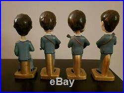 Vintage 1964 The Beatles Bobb'n Head Nodder Bobblehead Dolls Car Mascot Set Of 4