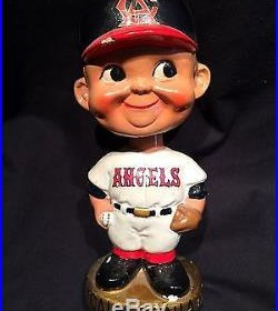 Vintage 1967 Bobblehead Califorina Angeles Nodder Gold Base Ball Boy