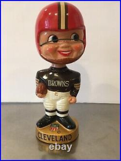 Vintage 1967 Gold Base Bobblehead Nodder Cleveland Browns