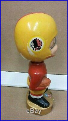 Vintage 1967 Gold Base Bobblehead Nodder Washington Redskins Free Shipping