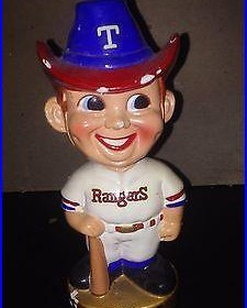 Vintage 1967 Texas Rangers Mascot Bobblehead
